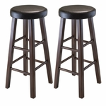 Marta 29''H Cushion Seat Stools-Set of 2 [94031-FS-WWT]