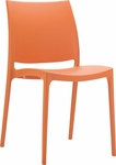 Martinique Lightweight Indoor/ Outdoor Stackable Side Chair - Orange [025-6038-ATC]