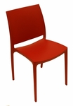 Martinique Lightweight Indoor/ Outdoor Stackable Side Chair - Red [025-6014-ATC]