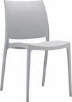 Martinique Lightweight Indoor/ Outdoor Stackable Side Chair - Silver Grey [025-6069-ATC]