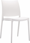 Martinique Lightweight Indoor/ Outdoor Stackable Side Chair - White [025-5994-ATC]