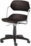Martisa Plastic Task Chair - Silver Frame and Black Seat [200-SLVR-BLK-FS-MFO]