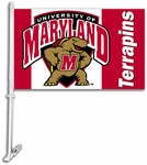 Maryland Terrapins Car Flag with Wall Brackett [97046-FS-BSI]