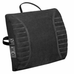 Heated Massage Lumbar Cushion with Adjustable Strap - Black [60-2802MR05-FS-COM]