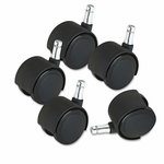 Master Caster® Deluxe Duet Casters - Nylon - B and K Stems - 110 lbs./Caster - 5/Set [MAS23622-FS-NAT]