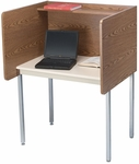Maximum Privacy FH Starter Carrel with Laminate Surface - 37''W x 30''D [01107-SCI]
