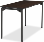 Maxx Legroom Wood 24'' W x 48'' D Folding Table - Walnut [65804-ICE]