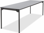 Maxx Legroom Wood 30'' x 96'' Folding Table - Gray [65837-ICE]