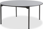 Maxx Legroom Wood 60'' Round Folding Table - Gray [65867-ICE]