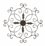 Scrolled Iron Medallion 35.75''H Wall Decor - Burnt Copper [2180-FS-PAS]