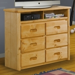 Rustic Style 44''W x 17.5''D Solid Pine Media Chest - Cinnamon [3544198-FS-CHEL]
