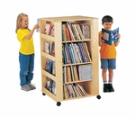 Mobile 14 Shelf Media Tower Storage Unit [0539JC-JON]