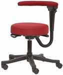 Health 300 Series Basic Swivel Adjustable Height Medical Stool with Arm [HE07-FS-SEA]