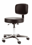 Medical Stool with Vinyl Seat and Back [DB63-FS-UC]
