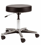 Medical Stool with Hand Lever Seat Adjustment and Chrome Base [D63-FS-UC]