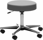 Medical Stool with Hand Lever Seat Adjustment - Chrome Base [D63-FS-UC]