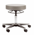 Medical Stool with Ring Activated Seat Adjustment and Vinyl Seat [D65-FS-UC]