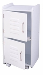 Kids Toys Books and Clothes Storage Medium Wooden Two Door Locker - White [14321-FS-KK]