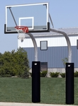 Twin Mega Duty Double Pole Glass Playground Basketball System [PR99-BIS]