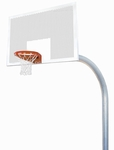 5.56'' Mega Duty Perforated Steel Playground Basketball System [PR79-BIS]