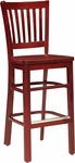Melrose Bar Stool with Vertical Slat Back [388I-O-FS-CMF]
