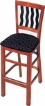Melrose Bar Stool with Vertical Waves Slat Back [388N-O-FS-CMF]