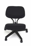 BetterPosture® Solace Plus Kneeling Chair - Black [BP1445BK-FS-JB]