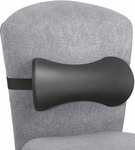 Memory Foam Lumbar Support Backrest with Adjustable Strap - Set of Five - Black [7154BL-FS-SAF]