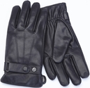Men's Extra Large Cellphone Tablet Touchscreen Gloves - Lambskin Leather - Black
