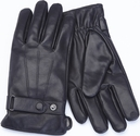 Men's Large Cellphone Tablet Touchscreen Gloves - Lambskin Leather - Black