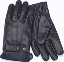Men's Medium Cellphone Tablet Touchscreen Gloves - Lambskin Leather - Black