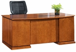 OSP Furniture Mendocino Hardwood Veneer 72'' Bow Top Desk [MENTYP1-FS-OS]