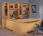 OSP Furniture Mendocino Hardwood Veneer Executive U-Suite [MEN-SUITE3-FS-OS]