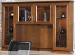 OSP Furniture Mendocino Hardwood Veneer Overhead Glass Door Hutch [MEN84-FS-OS]
