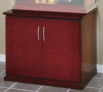 OSP Furniture Mendocino Hardwood Veneer Storage Cabinet with Metal Door Pulls [MEN13-FS-OS]