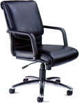 Mercado Alliance Chair with Adjustable Seat Height - Black Leather [ALBLK-FS-MAY]