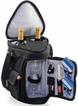 Meritage Wine and Cheese Tote - Black with Gray and Silver [629-60-175-000-0-FS-PNT]