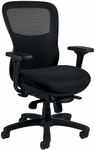 Executive Mesh Back and Seat Synchro Tilt Chair with Arms and Casters- Black [OTG11668B-FS-GLO]