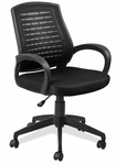 Mesh Vented Back Office Chair - Black [10067BL-FS-LCK]