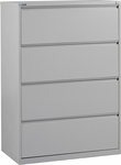 OSP Furniture Heavy Guage Steel 4 Drawer Lateral File [LF436-FS-OS]