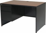 OSP Furniture 48''W Metal Left Pedestal Desk [MLS4830L-3-FS-OS]