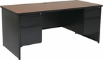 OSP Furniture 68''W Metal Double Pedestal Desk [MLR6832DP-3-FS-OS]