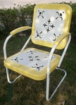 Metal Chair Retro with Yellow Trim [71140-FS-DCON]