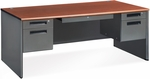 Executive Double Pedestal Panel End Executive Desk 36.25'' x 72'' - Cherry [77372-CHY-MFO]