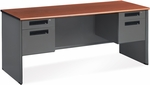 Executive Double Pedestal Panel End Credenza 26.50'' x 67'' - Cherry [77266-CHY-MFO]