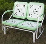 Metal Retro Glider with Vintage Green Trim [71350-FS-DCON]