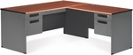 Executive L-Shaped Panel End Desk with Right Pedestal Return - Cherry [77366-R-CHY-MFO]