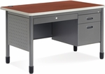 Mesa 29.50'' D x 47.25'' W Single Pedestal Teacher's Desk - Cherry Top [66348-CHY-MFO]