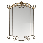 Sophia Two Tone Scrolled Oil Rubbed Metal 26''H Wall Mirror - Bronze and Gold [2123-FS-PAS]