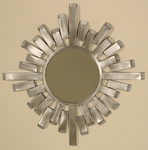 Stainless Steel Metal Works 19''H Wall Mirror with Open Ended Spokes [2453-FS-PAS]